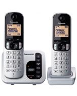 Panasonic Digital Cordless Phone with Answering System - 2 Handsets (KX-TGC222ALS)