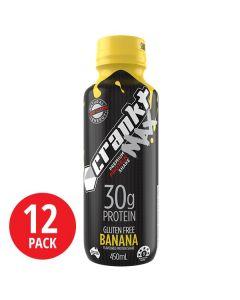 Crankt Protein MAX Shake 450ml - Banana - 12pk