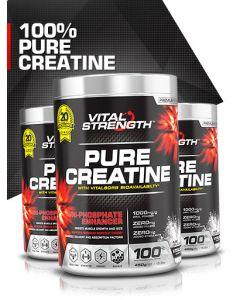 Vital Strength 100% Creatine Tri-Phosphate Enhancer Powder 450g