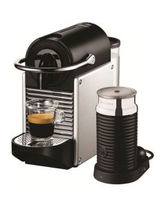 DeLonghi Nespresso Pixie Aluminium Coffee Machine (EN125SPLUS)