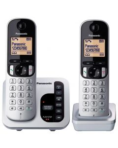 Panasonic Digital Cordless Phone with Answering System - 2 Handsets (KX-TGC222ALS)