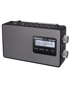 Panasonic Digital DAB & DAB+ Compatible Portable Radio - Black (RF-D10GN-K)