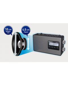 Panasonic Digital DAB & DAB+ Compatible Portable Radio - Black (RF-D10GN-K)