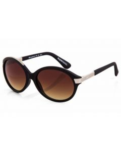 Superdry Supersonic 104 Sunglasses  Black & Silver Frame Gradient Brown Lens - Genuine Australian Stock